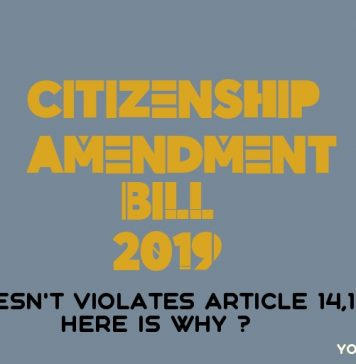 Citizenship Amendment Bill Violates Article 14