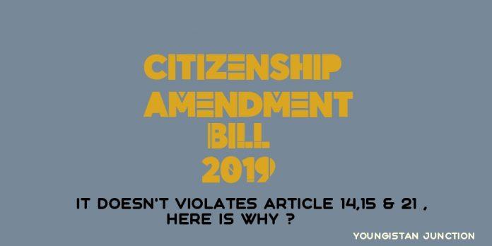Citizenship Amendment Bill Violates Article 14